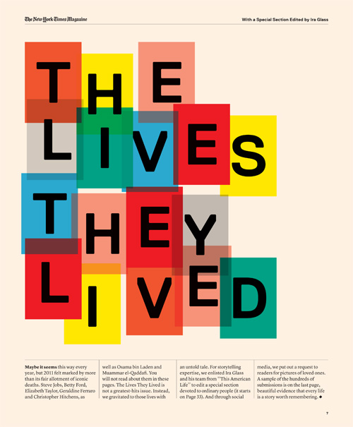 THE LIVES THEY LIVED ISSUE WITH THIS AMERICAN LIFE